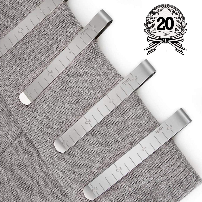 Diealles Shine Juego de 20 Clips de Costura de Acero Inoxidable Clips de Dobladillo de 3 Pulgadas para Accesorios Wonder Clips Pinning y Marking