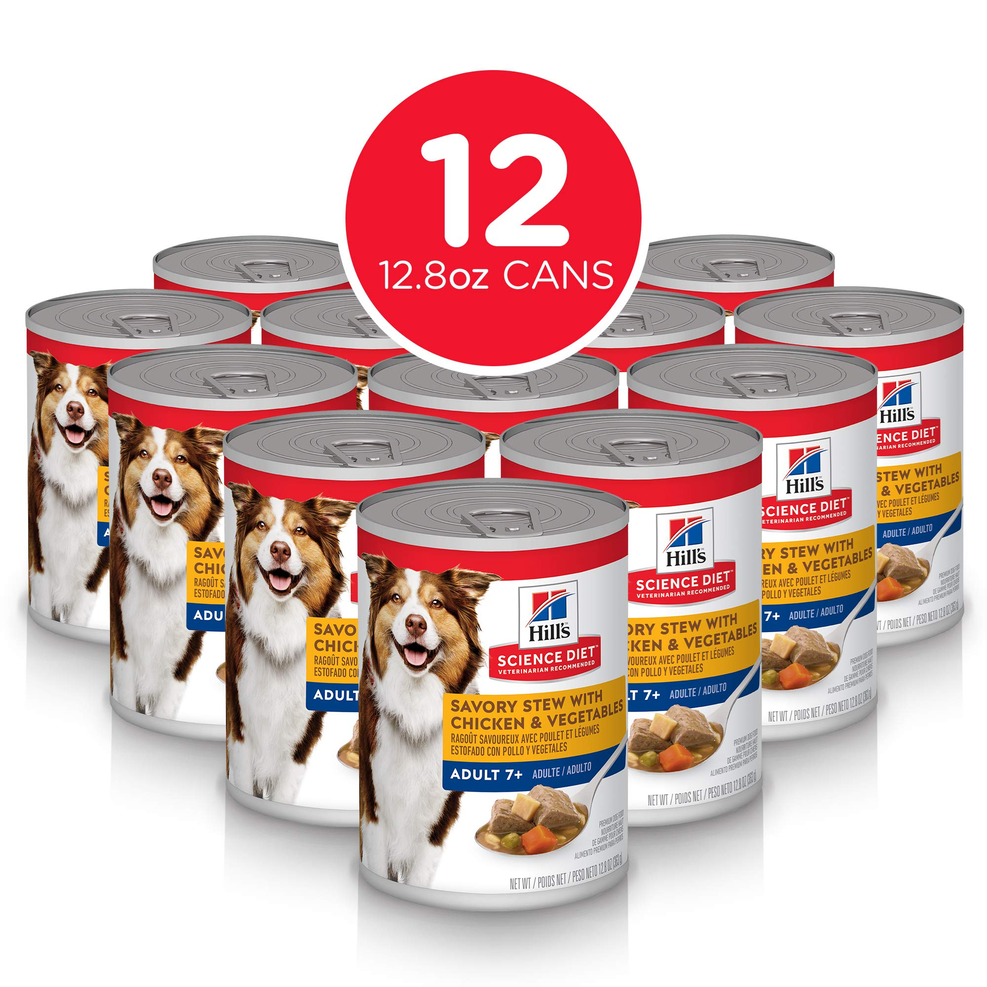 Hill's Science Diet Wet Dog Food, Adult 7+ for Senior Dogs,  13 oz Cans, 12 Pack by Hill's Science Diet