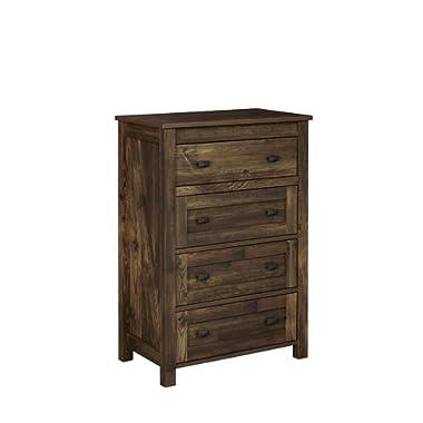 Ameriwood Home 5962215COM Farmington 4, 4 Drawer Dresser, Rustic