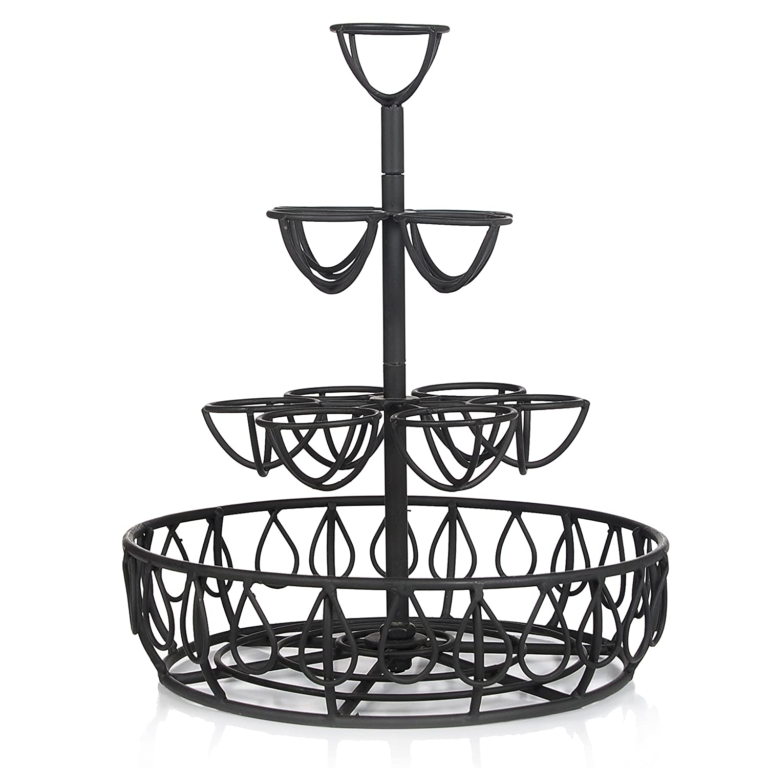 Amazon.com: Black Metal Wire Egg Basket w/ 10 Individual Holder And ...