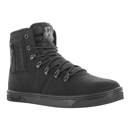 Footwear Men's Maximus II Black Mono Waxed Denim Sneaker Boot US 9