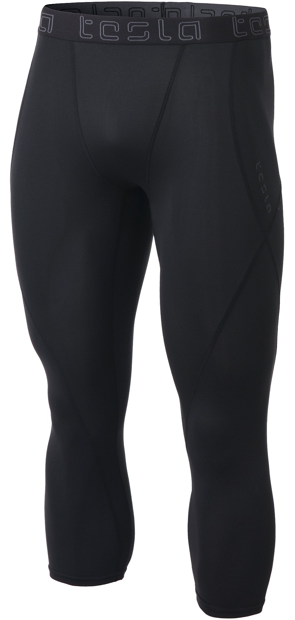 TM-MUC18-KLB_X-Small Tesla Men's Compression Capri Shorts Baselayer Cool Dry Sports Tights MUC18