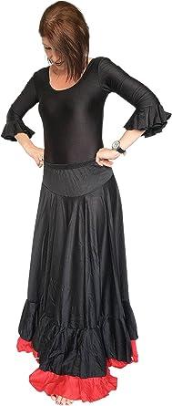 España Flamenco Rock – Falda Flamenco para mujer/mujeres – negro ...