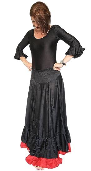 España Flamenco Rock - Falda Flamenco para Mujer/Mujeres - Negro ...