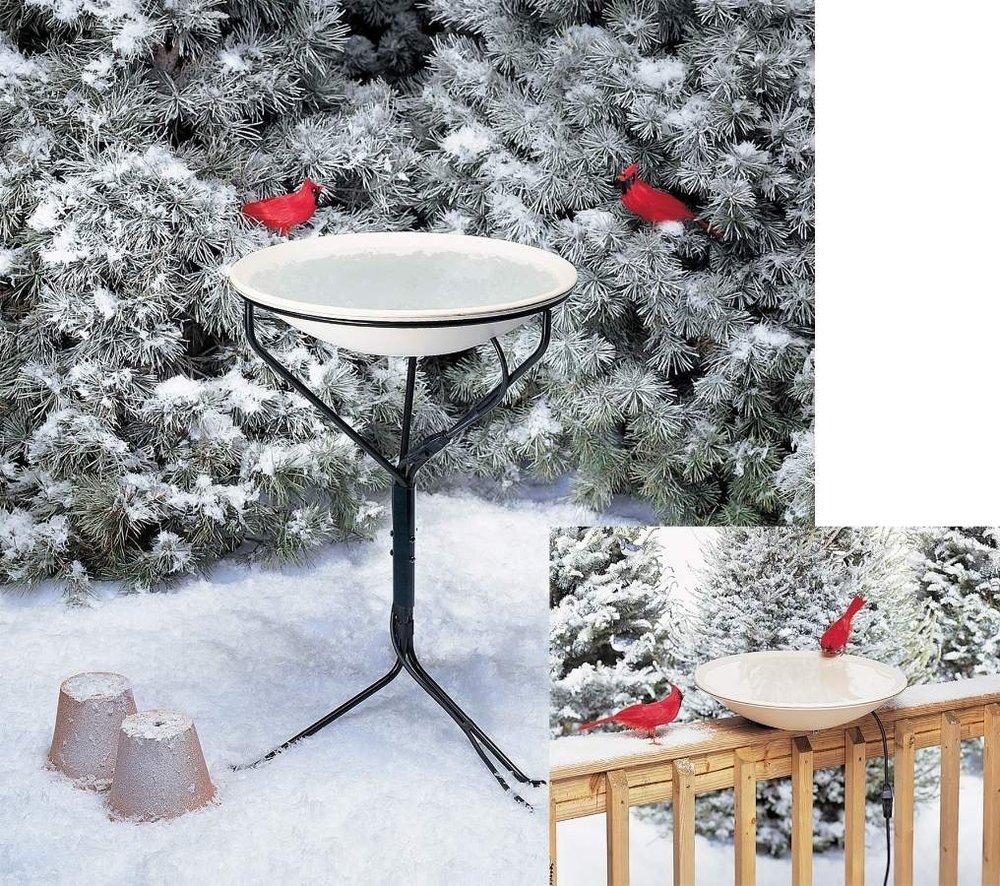 New Allied Precision 20 In. Non-heated Bird Bath W/Metal Stand 150 Watts High Quality Modern Design