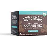 Adaptogen Coffee by Four Sigmatic, Organic Medium Roast Instant Coffee with Ashwagandha, Chaga & Tulsi, Immune Support…