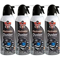 Falcon 4-Pack of 10 Oz Dust-Off Electronics Compressed Gas Duster