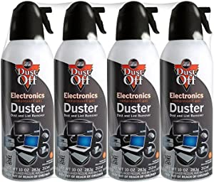 Falcon Dust-Off Electronics Compressed Gas Duster 10 Oz (4 Pack)