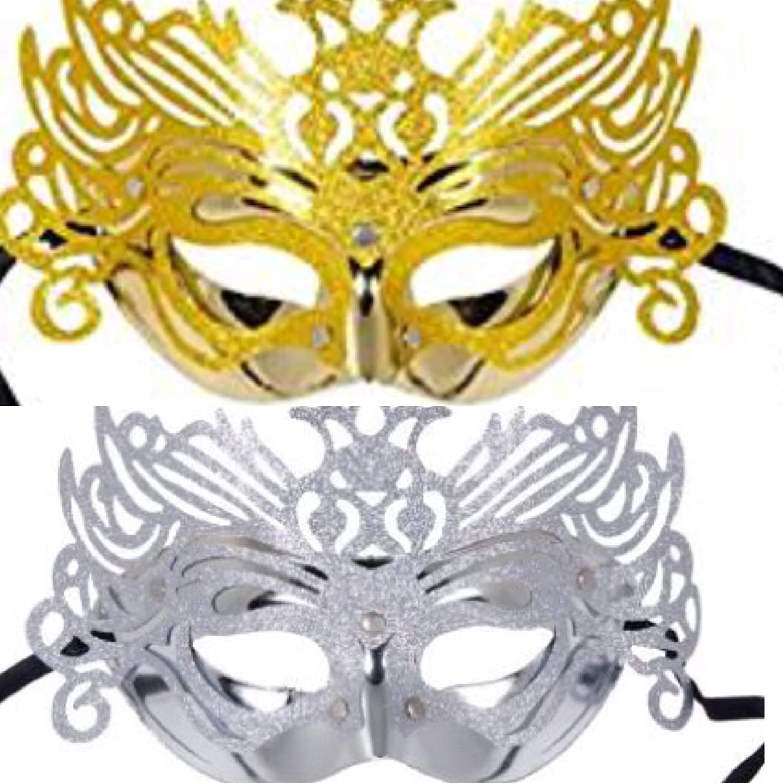 571b41b8f51c Amazon.com  Decorative Metallic Platinum   Gold Embellished ...
