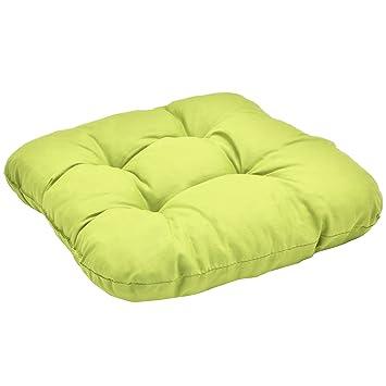 Sitzauflage Sitzkissen Gartenstuhl Cocktailkissen UNI grün 40x40x8 cm
