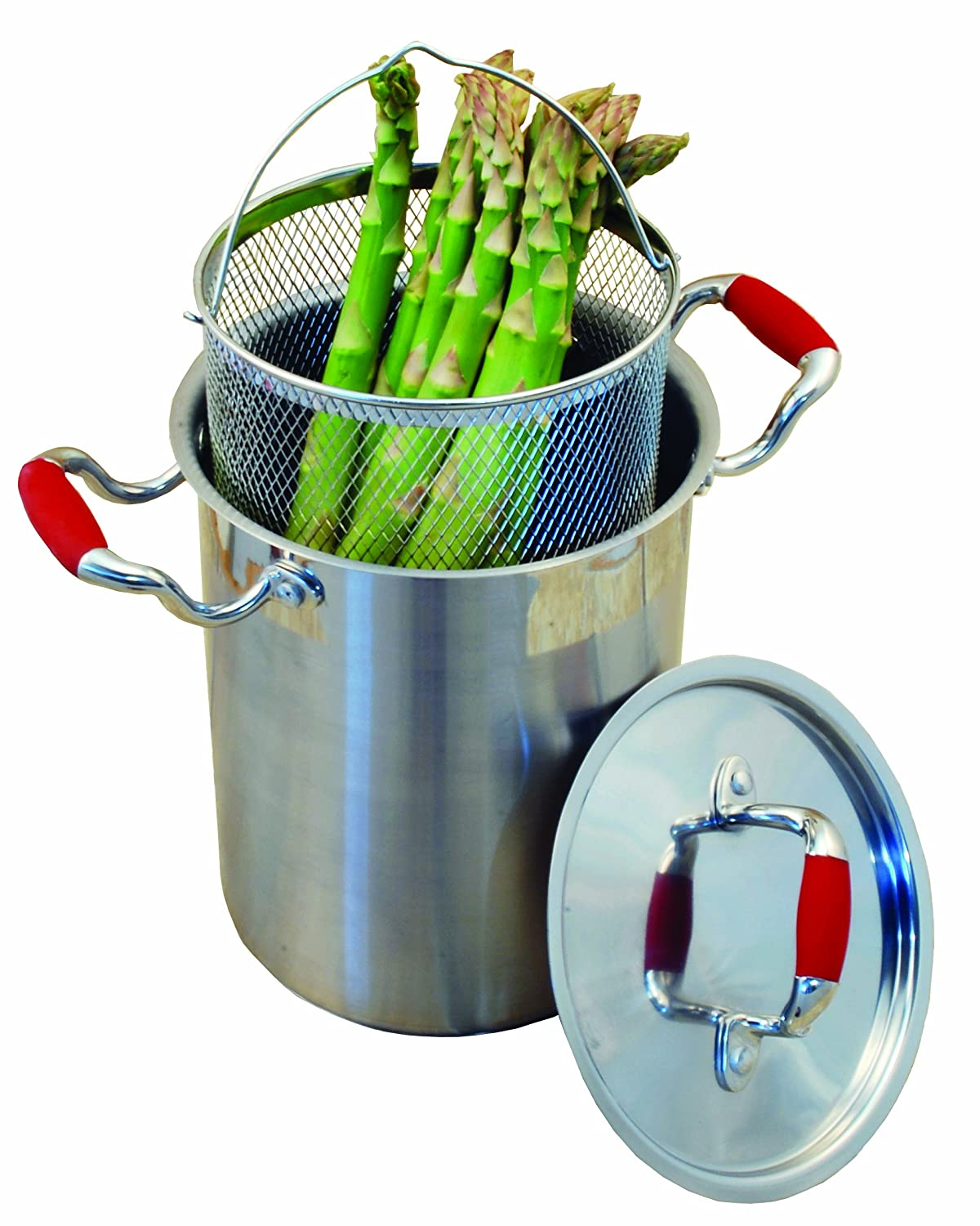 ExcelSteel Stainless Steel Vegetable Cooker, 4-1/4 Quantity, Pot