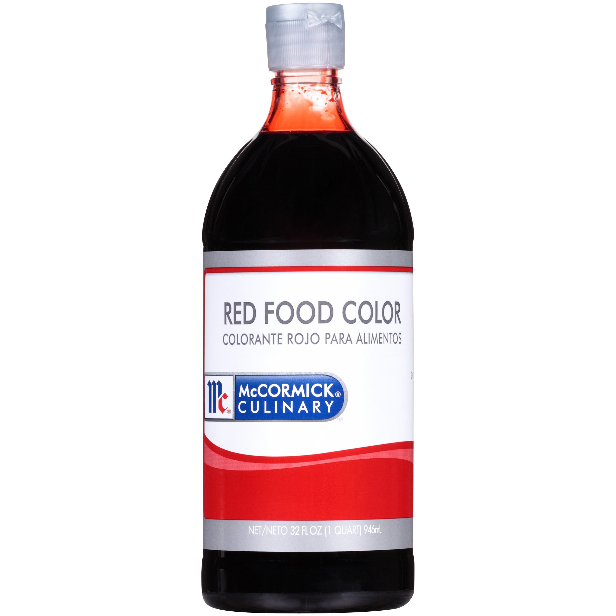 McCormick Culinary Red Food Color, Bakers Food Coloring, 32 fl oz (Packaging May Vary)