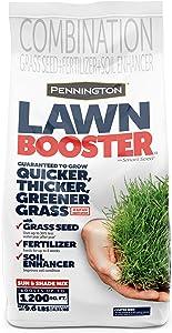 Pennington Lawn Booster Sun & Shade Mix Grass Seed & Fertilizer Smart Seed 9.6lb