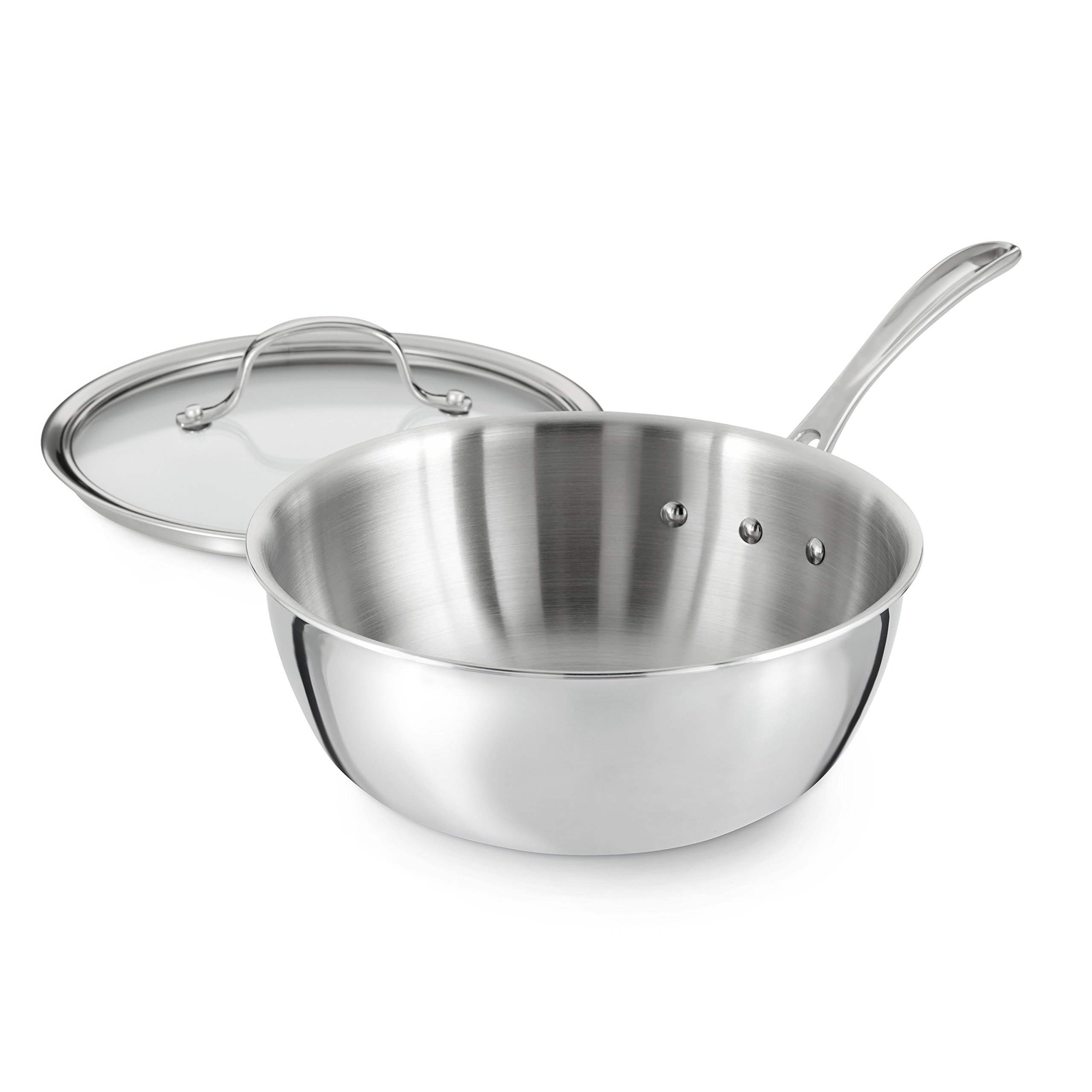 Calphalon Tri-Ply Stainless Steel Cookware, Chef's Pan, 3-quart by Calphalon (Image #3)