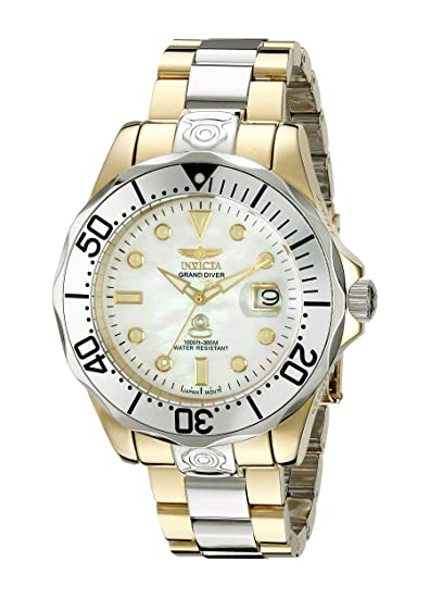 Invicta Mens 47mm Automatic Gold Steel Bracelet & Case Date Watch 16035