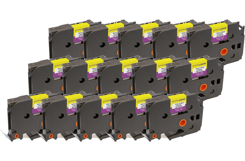 3x TZe231 TZe 231 Nero su Bianco 12 mm x 8 m Cassetta Nastro per Etichette compatibile per Brother P-Touch PT-1000 1000P 1000BTS 1005 1010 1090 2030VP 2430PC 3600 9600 D200 D200VP D200BW D210 D210VP D400 D400VP D450VP D600VP E100 E100VP E300VP E550WVP H100