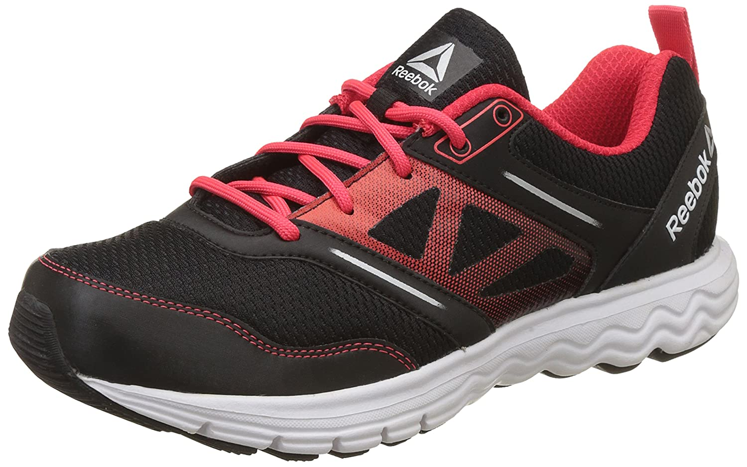 8fb5a163b95 Reebok Men s Fuel Race Blk Glow Red Silver Running Shoes - 10 UK India  (44.5 EU)(11 US) (BS9205)  Buy Online at Low Prices in India - Amazon.in