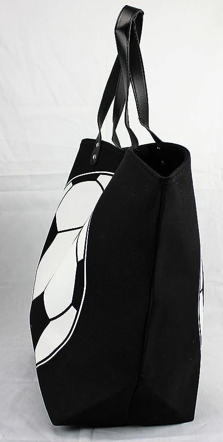 cba7265c5b Amazon.com  Knitpopshop Baseball Canvas Tote Bag Handbag Large Oversized  Mom  Kitchen   Dining