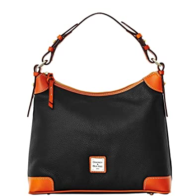 93560fd9f7 Amazon.com  Dooney   Bourke Pebble Grain Leather Hobo Black  Shoes