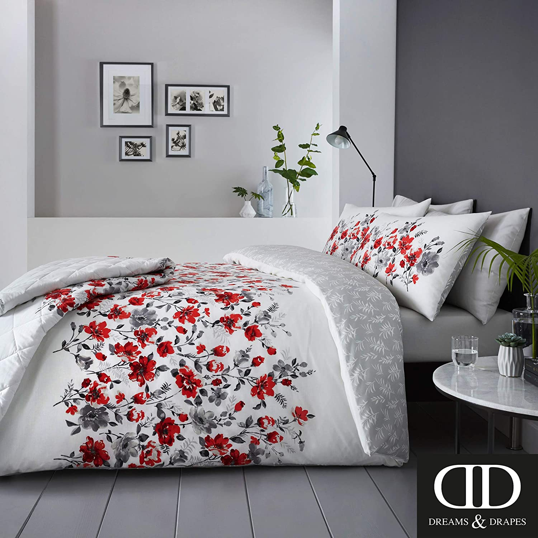 Red,GBARDKHUTD 195 x 229cm Dreams /& Drapes Easy Care Bedspread Gabriella