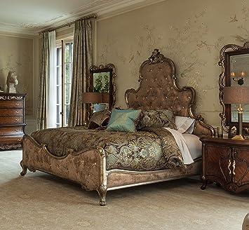 Amazon.com: NEW Platine de Royale 4pc Queen Panel Bedroom Set in ...