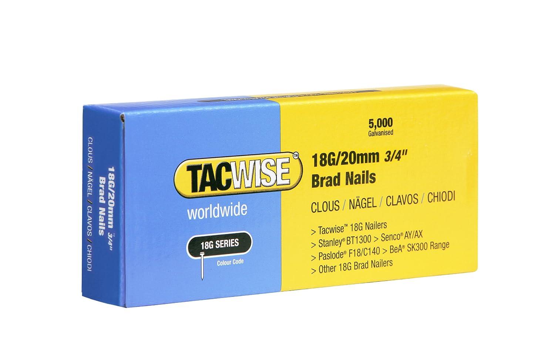 Set Piezas caja de 5000 unidades 32 mm Tacwise 0398 Clavos galvanizados de 18 x 32 mm