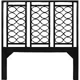 David Francis Furniture Infinity Headboard, Queen, Black