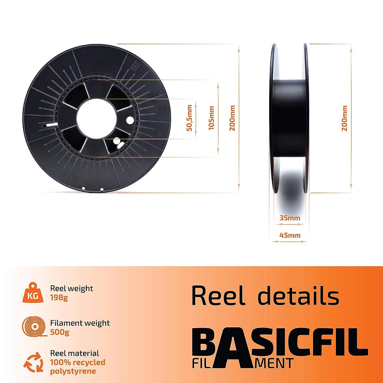 BASICFIL PET 2.85mm, 500 gr filamento de impresión 3D, Azul ...