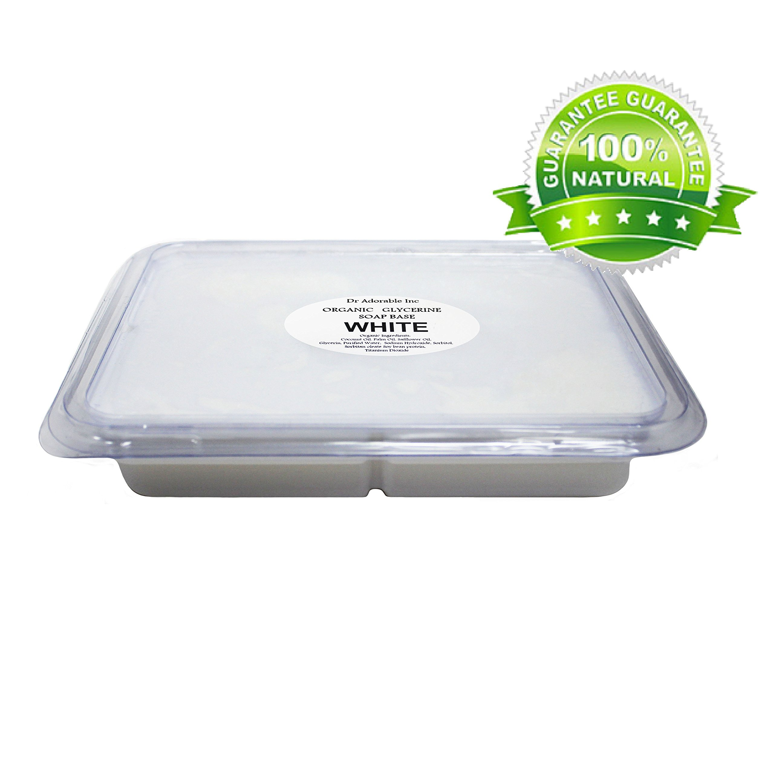 2 Lb White Glycerin Melt & Pour Soap Base Organic