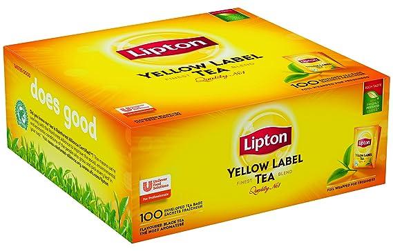 74ea0c234 Lipton Té negro Yellow Label, Caja con 100 sobres: Amazon.es ...