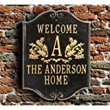 Personalized House Plaque   Custom Indoor/Outdoor Aluminum Wall Sign