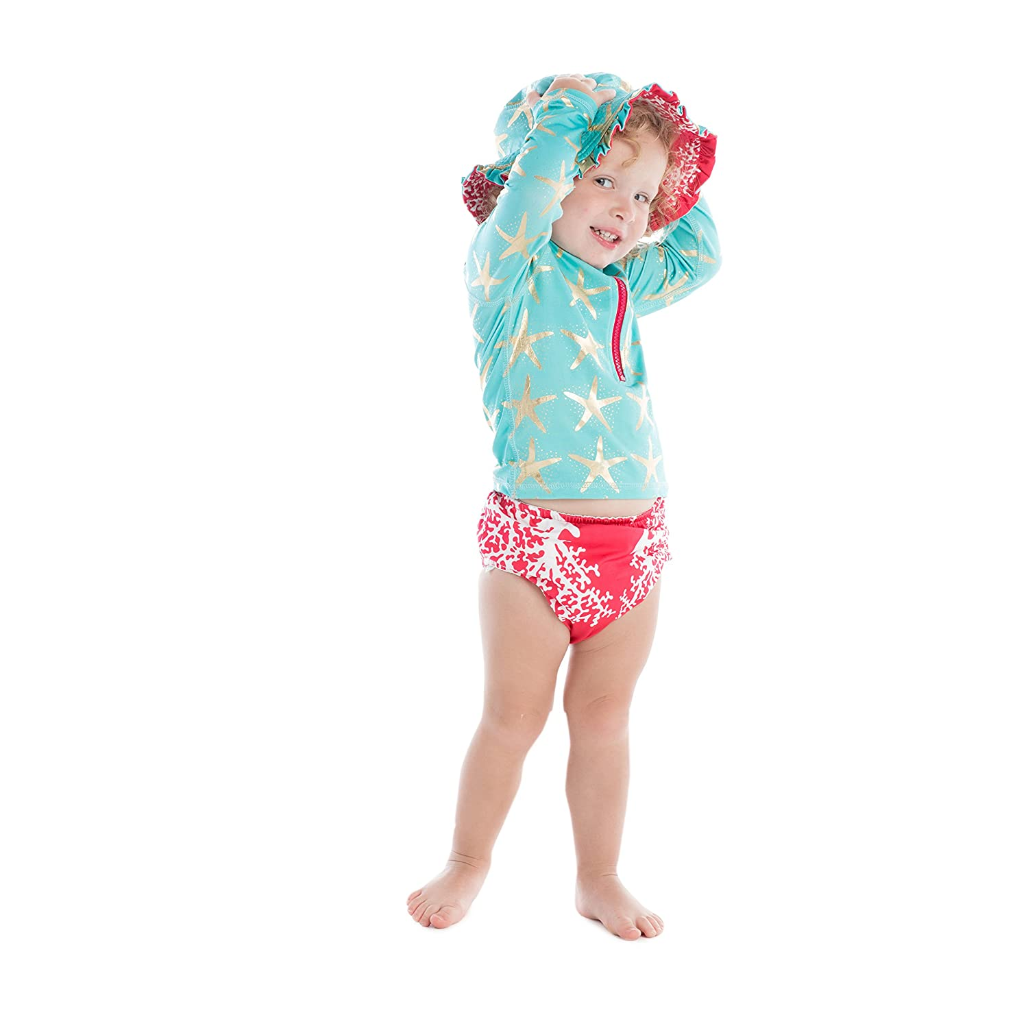 3-6M Masala Baby Girls Baby Swim Diaper Cover Sea Coral