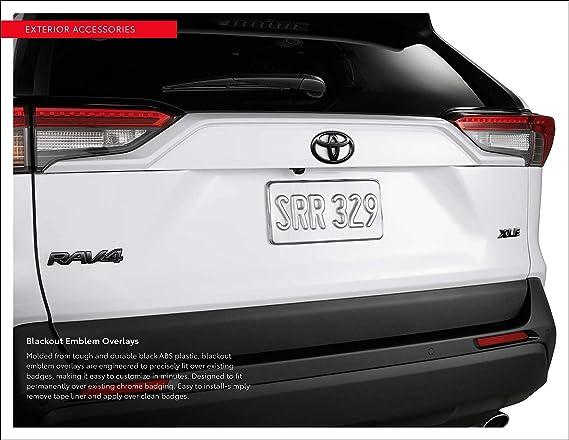 2019 Toyota RAV4 Blackout Emblem Overlay Kit OEM PT948-42192-02