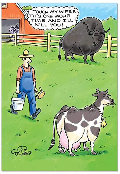 Amazon Jealous Bull Birthday Humor Card Funny With Envelope C2595BDG Office Products