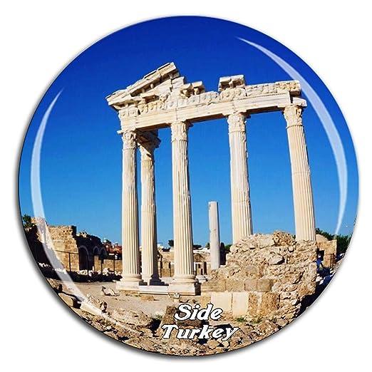 Weekino Templo de Apolo Lado Turquía Imán de Nevera Cristal de ...