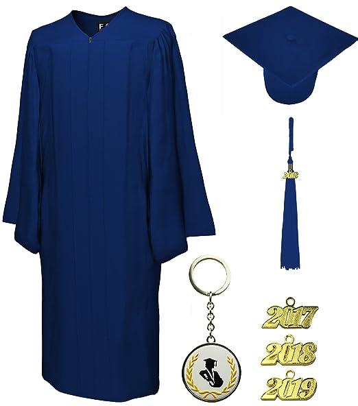 Amazon.com: Graduation Cap and Gown and Tassel, GO Green, FIT4GRAD ...