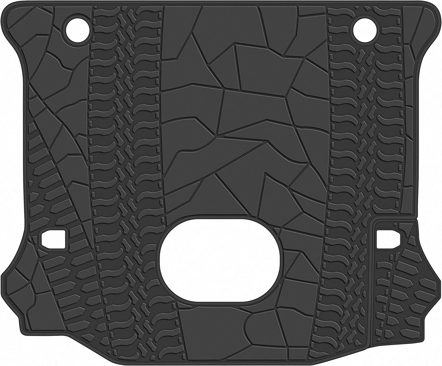 San Auto Car Floor Mat for Jeep Compass 2017-2018-2019 Custom Fit Black//Red,Rubber Auto Floor Liner Mat All Weather Heavy Duty /& Odorless