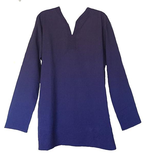 745d960ad6 Yak & Yeti Tunic Hand-Loomed Cotton Kurta Split Neck Shirt: Amazon.ca:  Clothing & Accessories