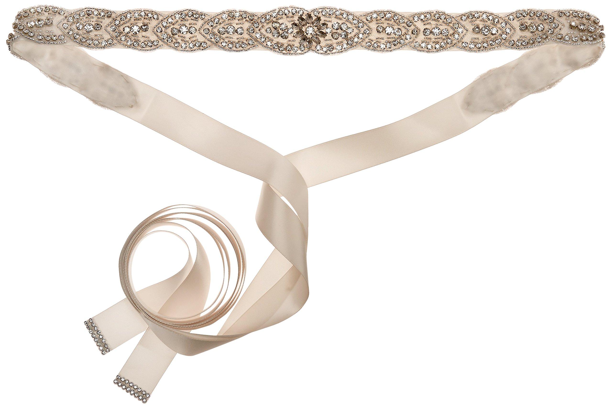 Nina Women's Marisa Romantic Satin Bridal Belt, Ivory, One Size