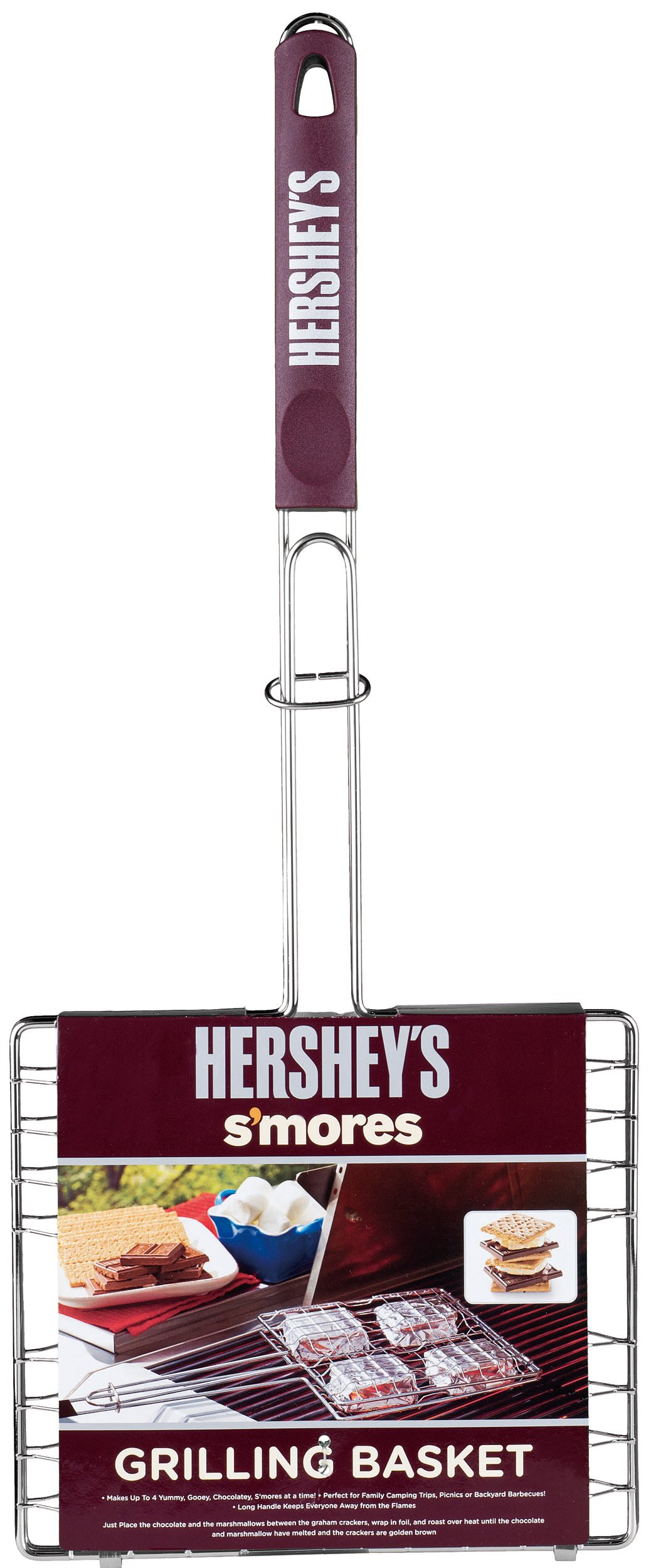 Hershey's 01200HSY S'mores Polypropylene Handle Grilling Basket by HERSHEY'S