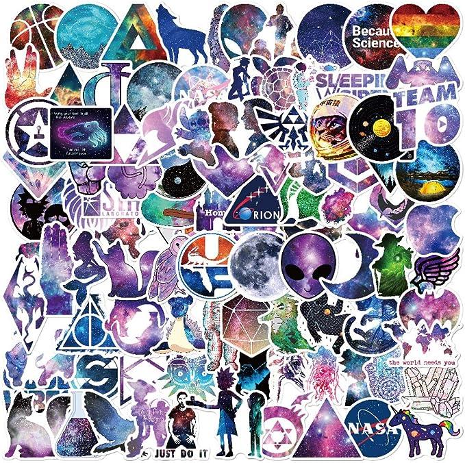 Galaxy Style Aufkleber 100 Pcs Graffiti Sticker Decals Patches Variety Vinyl Wasserdicht Laptop Aufkleber Autoaufkleber Teen Kinder Stickerbomb Für Telefon Auto Motorrad Fahrrad Gepäck Wasserflaschen Auto
