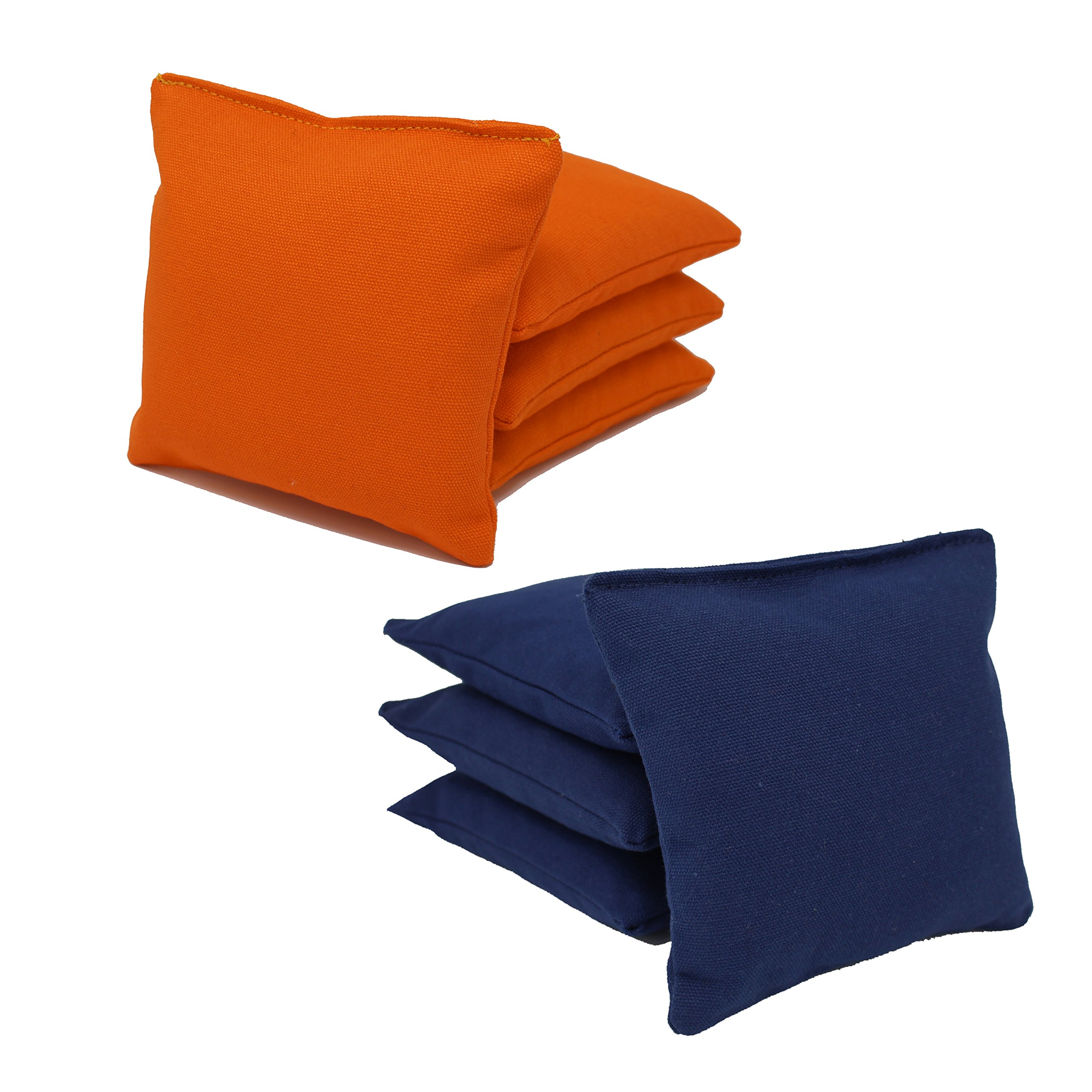 Cornhole Bags Set - (4 Navy Blue, 4 Orange) By Free Donkey Sports by Free Donkey Sports