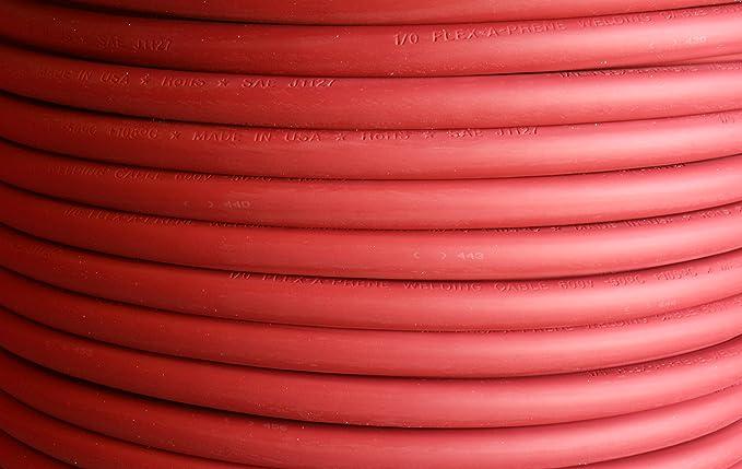 FLEXAPRENE 25/' 2//0 WELDING BATTERY CABLE RED 600V USA EPDM HEAVY DUTY COPPER