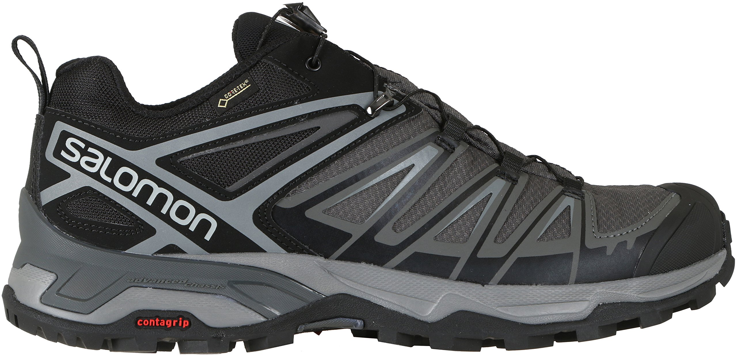 SALOMON X ULTRA 3 GTX MEN'S HIKING SHOES BLACK/MAGNET/QUIET SHADE SZ 8.5 by Salomon