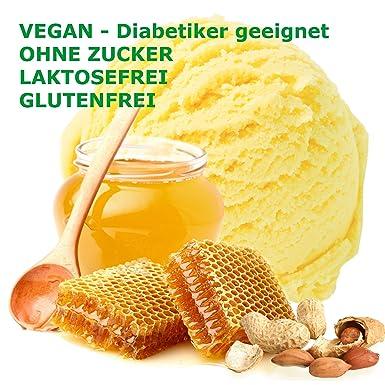 miel en polvo helado sabor vegan cacahuete - Azúcar - LACTOSA - GLUTEN - baja en grasa, leche helado en polvo al polvo de helado suave diabética Gino Gelati ...