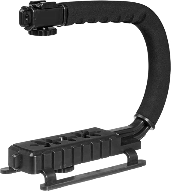 Pro Video Stabilizing Handle Grip for Casio Exilim EX-FH25 Vertical Shoe Mount Stabilizer Handle