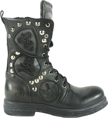 Replay RL260058L Evy Damen Schuhe Biker Boots Stiefel 003