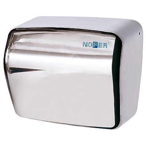 Nofer 01251.B Kai - Secador de Manos con Sensor electrónico, Acero Inoxidable,