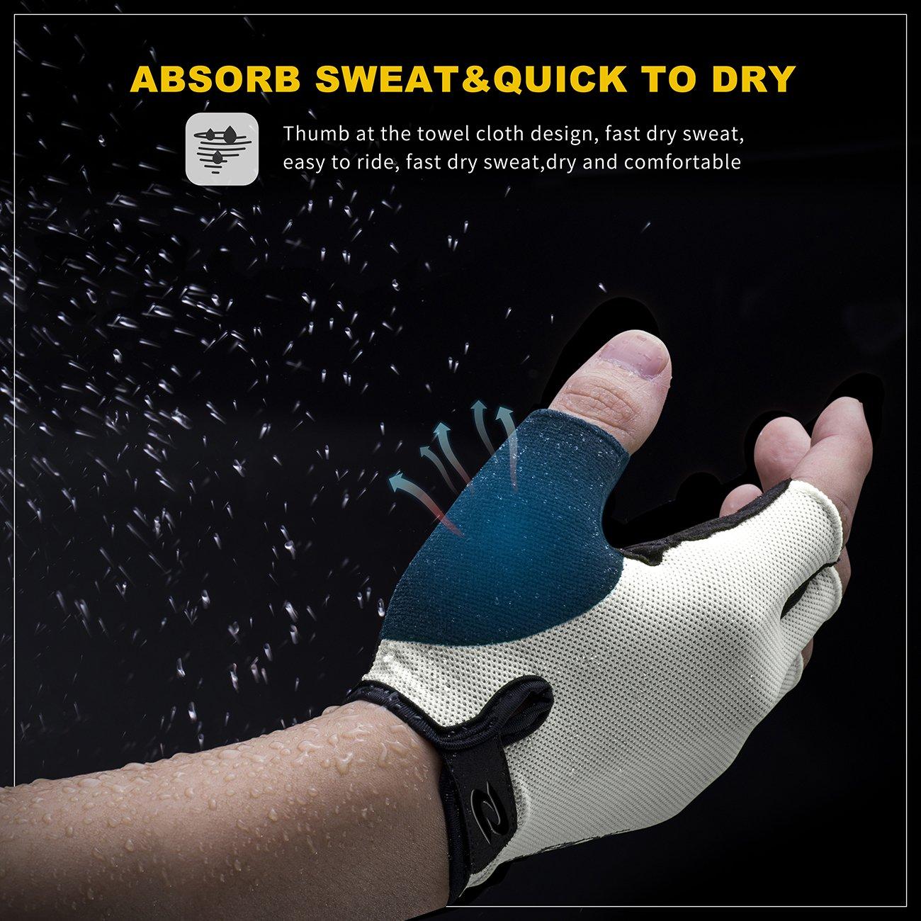 RIVBOS Bike Gloves Cycling Gloves Fingerless for Men Women with Foam Padding Breathable Mesh Fashion Design CHG001