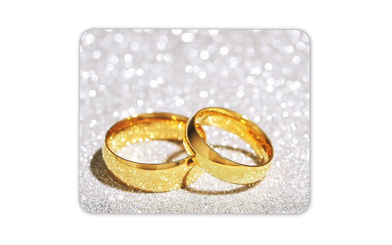 Hermosa alfombrilla de ratón para anillos de boda, regalo de boda ...
